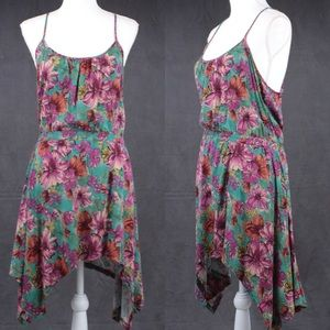 Mini Chica floral sundress asymmetrical size small